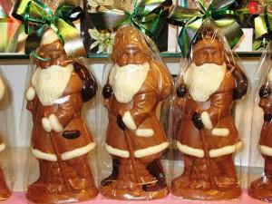 weihnachtsmann aus schokolade