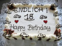 Geburtstagstorte 18 Führerschein